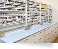 きれいで効率的な調剤室
